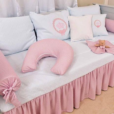 Imagem de Kit Cama Babá para menina Pequena Princesa 06 Peças - Hug Baby