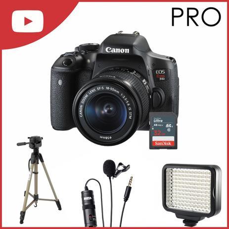 Imagem de Kit Câmera Canon T6i Youtuber Pro