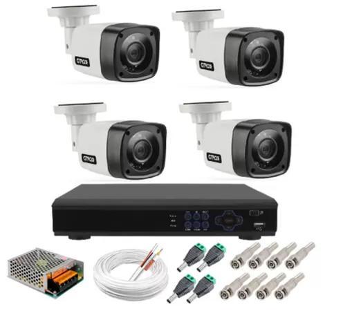 Imagem de Kit Câmeras De Segurança Residencial Ahd Acesso Internet P2p
