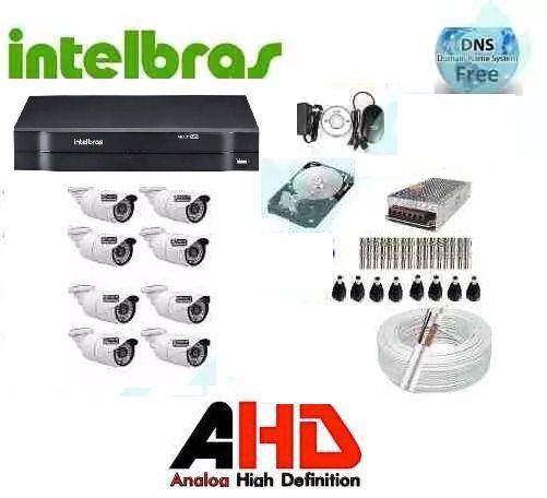 Imagem de Kit Câmeras De Segurança Residencial Dvr Intelbras 1008 Hd
