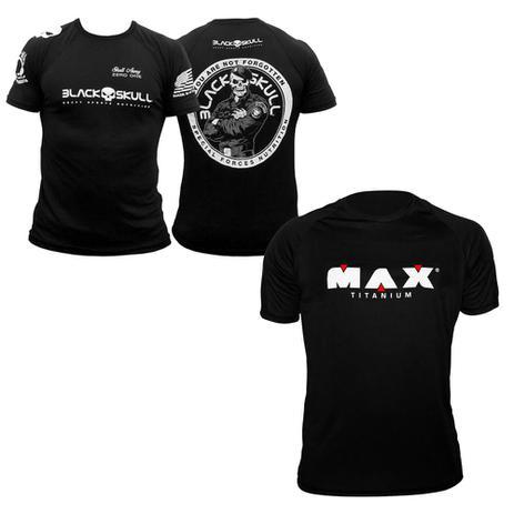 Kit Camiseta Black Skull Bope + Camiseta Max Titanium - Kit de ... 84e4a7a01d8