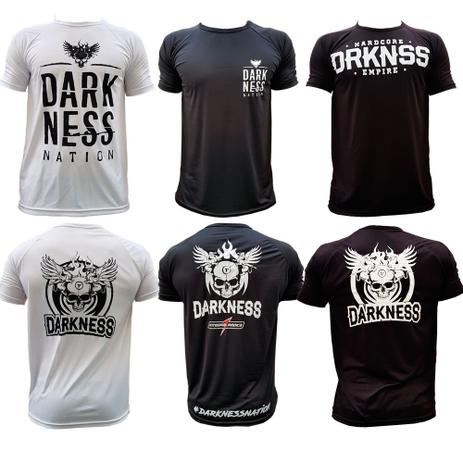 Kit Camiseta Darkness Branca Preto Nation - Integralmedica - Integral medica 5820ec512c2d4