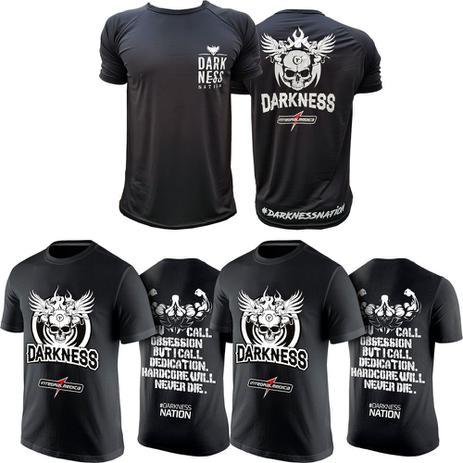 Kit Camiseta Homen Forte + Camiseta Darkness + Nation - Integral - Max  titanium 3c158d4cc3d48
