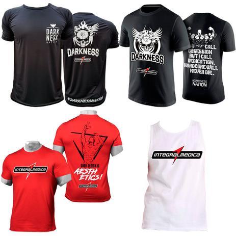 Kit Camiseta Nation + Camiseta Darkness + Vermelha + Regata - Integral  medica 95a839731e0