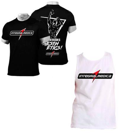 Kit Camiseta Preta + Regata Branca - Integralmedica - Integral medica 298cd9936a8