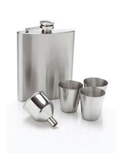 Imagem de Kit Cantil Whisky Garrafa de Bolso com 3 copos e funil