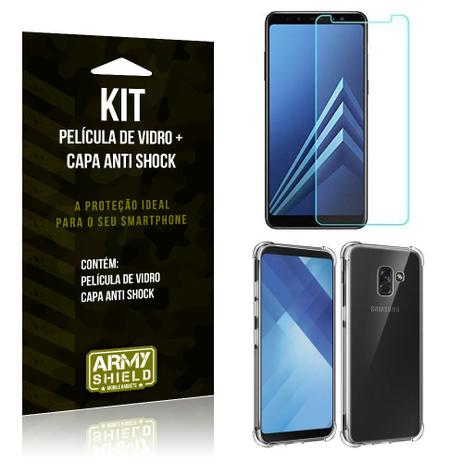 60215f4980 Kit Capa Anti Shock Samsung Galaxy A8 Plus Capa Anti Shock + Película de  Vidro - Armyshield