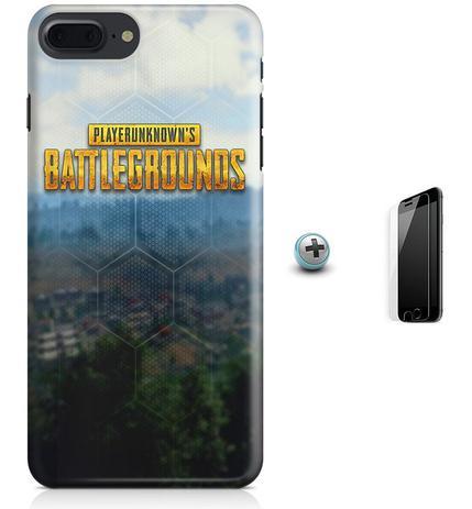 Imagem de Kit Capa Case TPU iPhone 8 Plus - Battlegrounds PUBG + Pel Vidro (BD30)