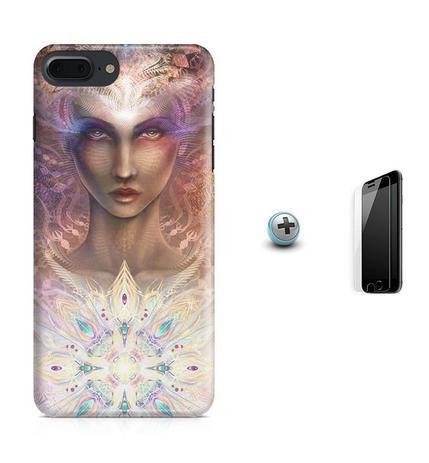 Imagem de Kit Capa Case TPU iPhone 8 Plus - Harmonia Harmony + Pel Vidro (BD01)