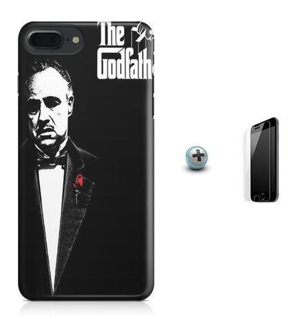 Imagem de Kit Capa Case TPU iPhone 8 Plus - O Poderoso Chefão The Godfather Marlon Brando + Pel Vidro (BD01)