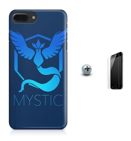 Imagem de Kit Capa Case TPU iPhone 8 Plus - Pokemon Mystic Pokemon Go + Pel Vidro (BD01)