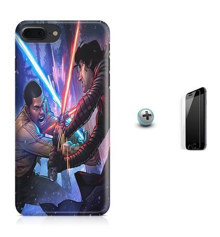 Imagem de Kit Capa Case TPU iPhone 8 Plus - Star Wars + Pel Vidro (BD01)