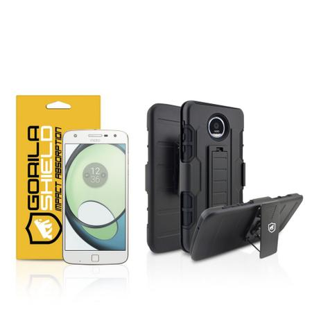 be46995af15 Kit Capa Clip e Película de vidro dupla para Motorola Moto Z Play - Gorila  Shield