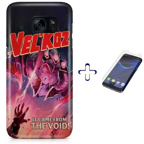 Imagem de Kit Capa Galaxy S7 VelKoz League of Legends+Pel Vidro BD30