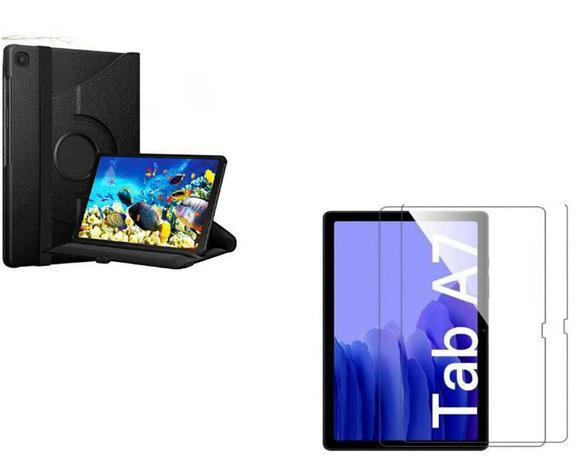 Imagem de Kit Capa Giratória Tablet Samsung Galaxy Tab A7 T500/T505  + Pélicula de Vidro 10.4 (2020)