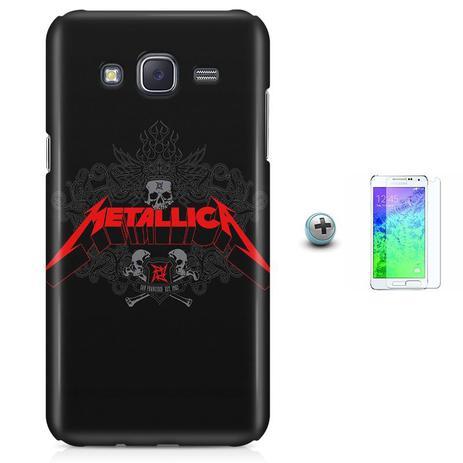 Imagem de Kit Capa Gran Prime G530/G531 Metallica + Pel Vidro BD1