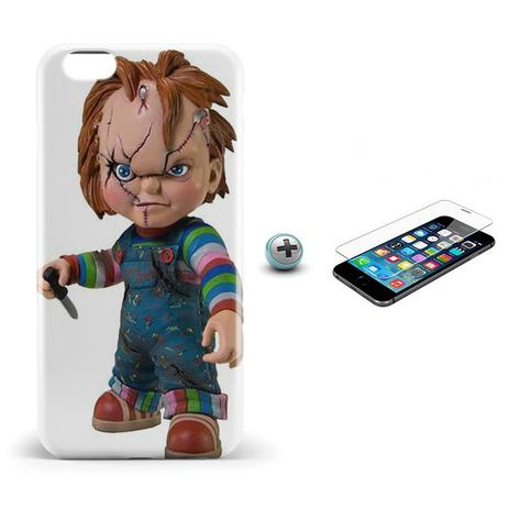 Imagem de Kit Capa iPhone 6/6S Chucky +Pel.Vidro BD1