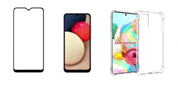 Imagem de Kit Capa Reforçada Antishock Tpu Premium Samsung Galaxy A02 A02S + Película De Vidro 3D 5D 9D
