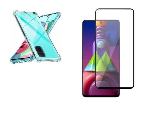 Imagem de Kit Capa Reforçada Antishock Tpu Premium Samsung Galaxy M51 + Película De Vidro 3D 5D 9D