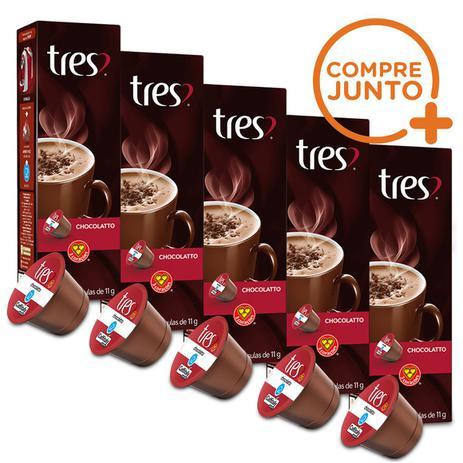 Imagem de Kit Cápsulas Três Corações Chocolate Quente - 50 Cápsulas