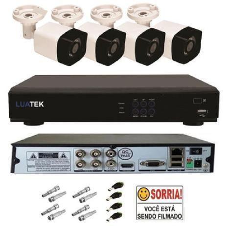 Imagem de Kit Cftv 4 Câmeras Infravermelho Segurança 1mp 20m Dvr Full Hd 4 ch