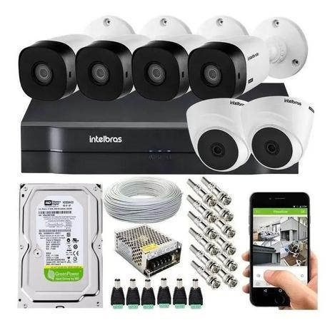 Imagem de Kit Cftv 6 Câmeras De Segurança Hdcvi e Dvr Intelbras Mhdx 1108 c/ HD 500GB