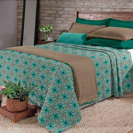 6d7dc8c297 Kit Cobertor Blanket Hedrons Queen Vintage Plush - Cobertores e ...
