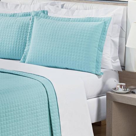 a54aeb8c21 Kit Colcha Solteiro Pratic 2 Peças 200 Fios Bernadete Casa Azul Tiffany