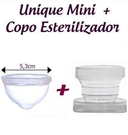 Imagem de Kit Coletor Menstrual UNIQUE  30ml + Copo Esterilizador