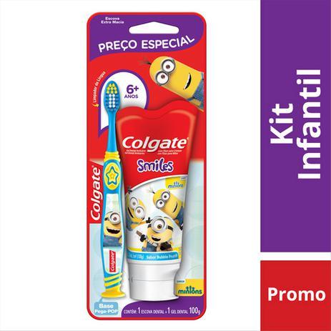 Imagem de Kit Colgate Minios Escova Dental + Creme Dental
