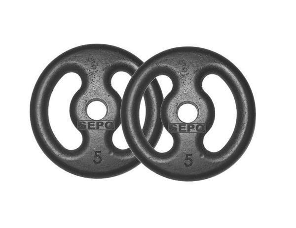 Imagem de Kit com 02 Anilhas de Ferro Fundido de 5Kg