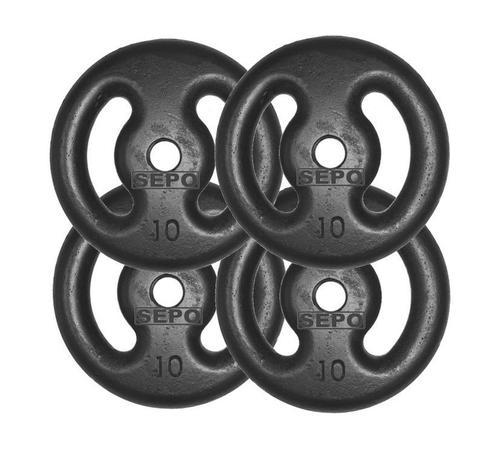 Imagem de Kit com 04 Anilhas de Ferro Fundido de 10 Kg