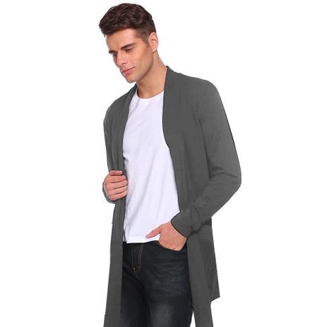 Imagem de Kit com 05 Blusa De Frio Cardigan Masculino Sobretudo Swag Slim Fashion  Slim Fitness