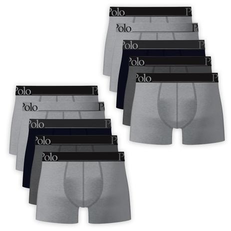 0f239250d Kit Com 10 Cuecas Boxer De Cotton Elástico 40cm Bordado - Polo Match ...