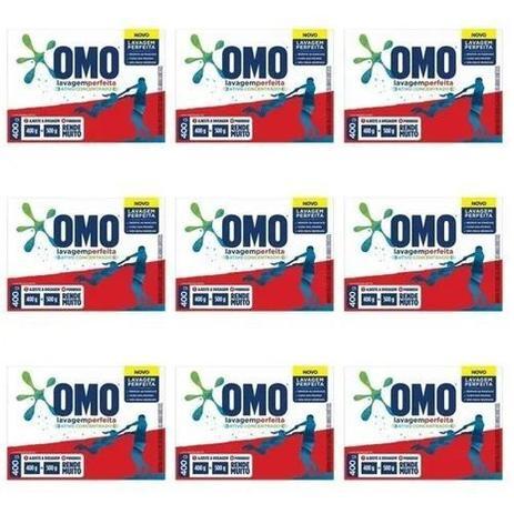 Kit Com 10 Lava Roupa Em Pó Lavagem Perfeita Omo 400g - Unilever