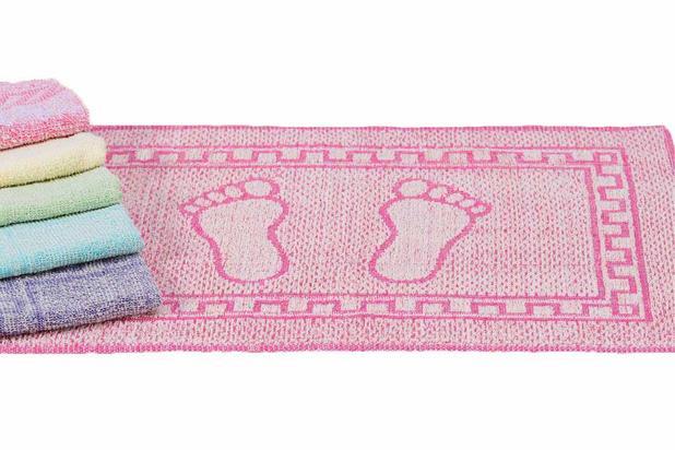 Imagem de Kit com 10 tapetes para banheiro jaquart  tulipa