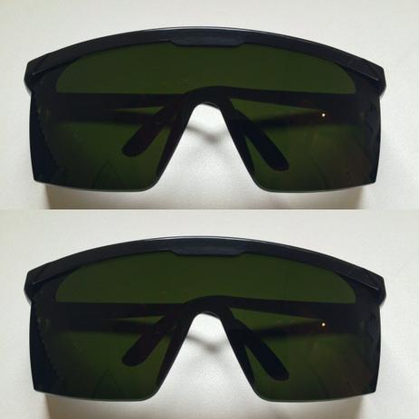 73d25509e79e1 Kit com 2 Oculos de proteçao contra raio laser e luz pulsada ipl - Majestic