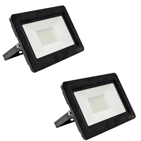 Imagem de Kit com 2 peças - Holofote Refletor Super LED 100w Branco Frio Bivolt a Prova Dágua