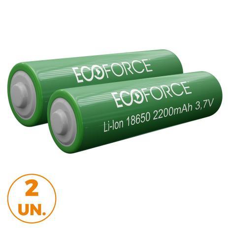 Imagem de Kit com 2 - Pilha Bateria Lítio Recarregável 3,7v 2200mah Luminária Solar Ecoforce