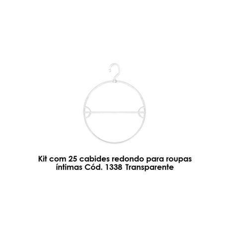 f3f316fdb Kit com 25 cabides redondo para roupas íntimas Cód. 1338 Transparente -  Bell plastic
