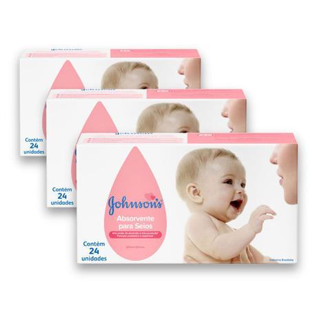 Imagem de Kit com 3 Absorventes para Seios JOHNSONS 24 unidades