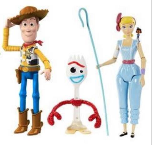 Imagem de Kit com 3 Bonecos Toy Story 4