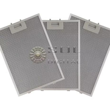 Imagem de Kit com 3 Filtros Metálicos para Coifas Electrolux 90CIT Ilha