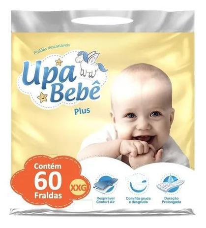 Imagem de Kit com 3 Fralda Descartável Infantil Upa Bebê XXG Plus