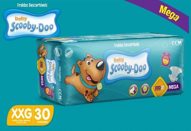 Imagem de Kit Com 3 Pacotes Fraldas Scooby-doo Mega Atacado Tam XXG Com 90 Unidades