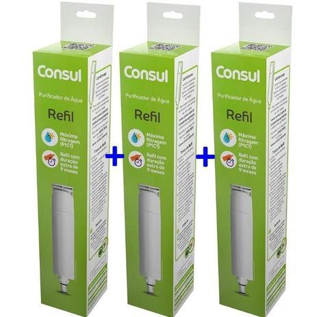 Imagem de Kit Com 3 Refis / Filtro CIX01AX  Para Purificador de Água CONSUL - CPC30CPB35 e CPB36 (Original)