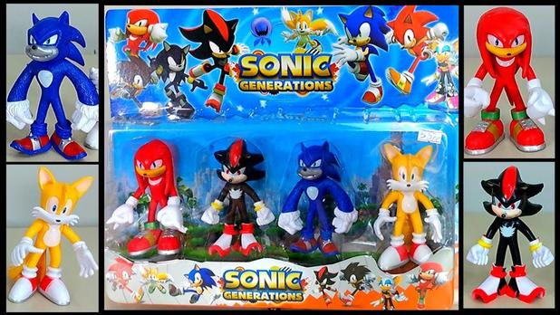 Imagem de kit com 4 bonecos Sonic Generation