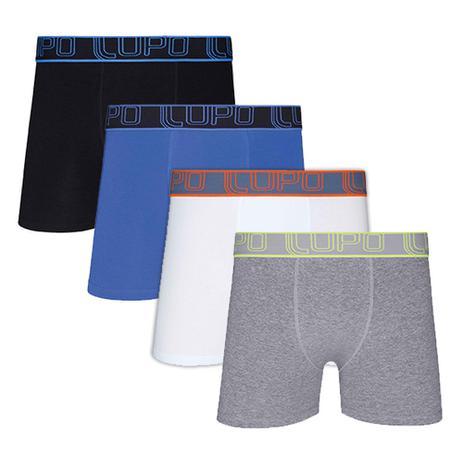 a81ff4555 Kit com 4 Cuecas Boxer Algodão 784-007 - Lupo - Roupas esportivas ...