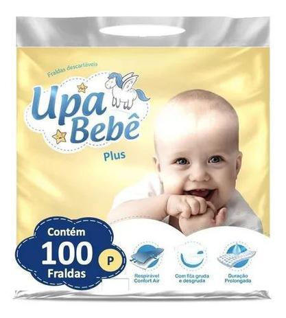 Imagem de Kit com 4 Fralda Descartável Infantil Upa Bebê P Plus Barato Atacado