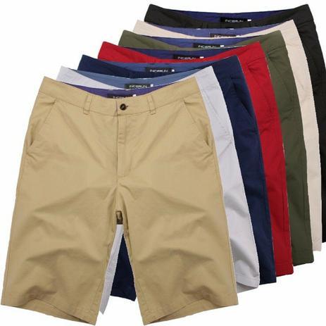 Imagem de kit com 5 bermudas de sarja masculina cores variadas